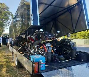 Enclosed bike come car trailer