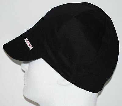 Nwt Comeaux Caps Welders Welding Hats Solid Black Size 7-18 Reversible 2000