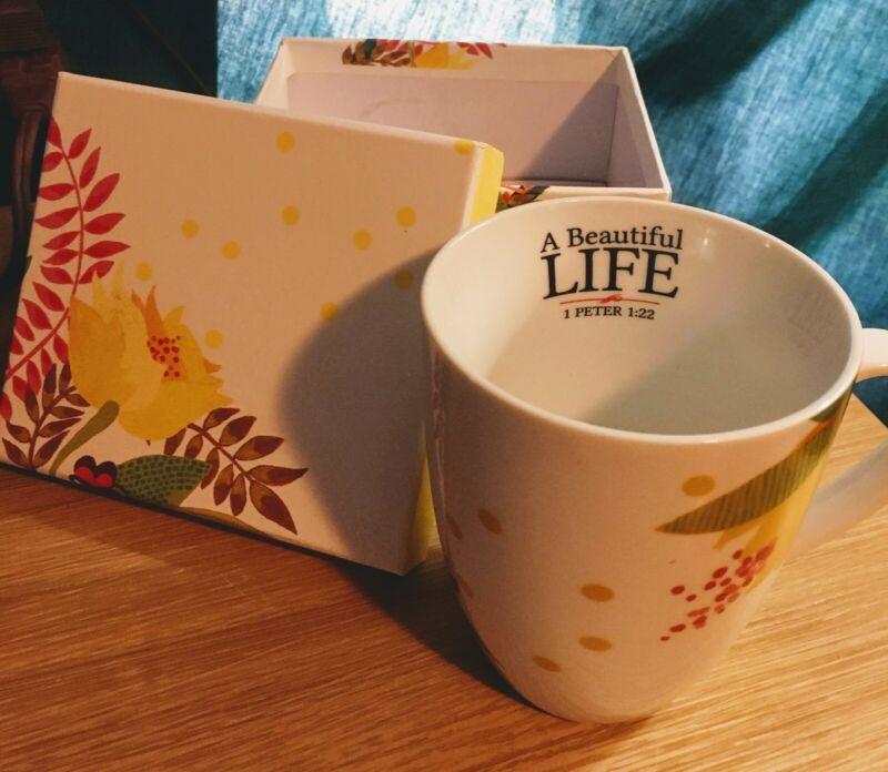 A Beautiful Life Mug by Influence Resources I Peter 1:22 Christian Bible Verse