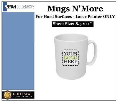 Neenah Mugs Nmore Laser Heat Transfer Paper Hard Surfaces 8.5 X 11 - 10 Sheets