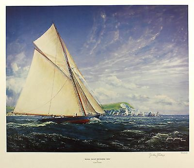 "GORDON FRICKERS ""Royal Yacht Britannia 1893"" SGD LIM ED SIZE:54cm x 64cm NEW"