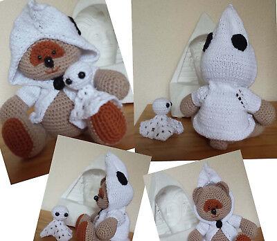 TEDDY BÄR im GEIST Gespenst KOSTÜM Deko HÄKELTIER gehäkelt HALLOWEEN Amigurumi - Teddybär Halloween Kostüm