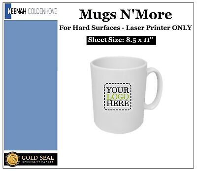 Neenah Mugs Nmore Laser Heat Transfer Paper For Hard Surfaces 8.5x11 -25 Sheets