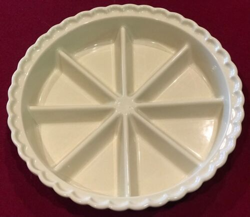"World Market 11""  Divided Pie Quiche Tart Scone Pizza Dish Bisque Color EUC"