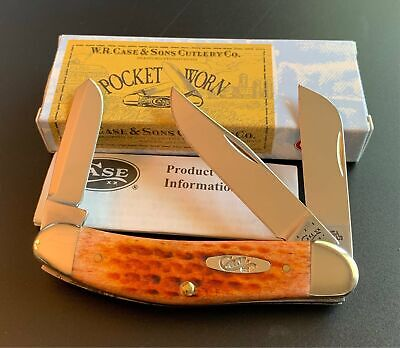 2012 CASE XX TB6339 TONY BOSE HARVEST ORANGE SOWBELLY STOCKMAN POCKET KNIFE NOS