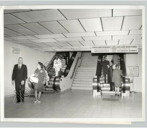 ESCALATORS @ Los Angeles Int'l AIRPORT Aviation Travel 1960s Press Photo