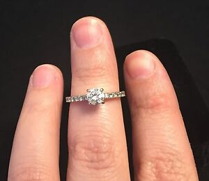 18K WHITE GOLD ENGAGEMENT RING -- Best Price--  Cambridge Kitchener Area image 2