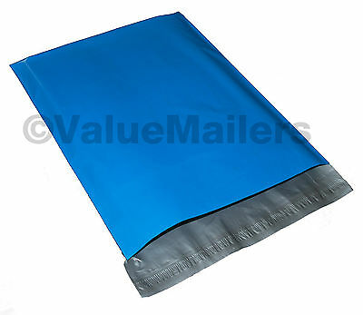 100 7.5x10.5 Blue Poly Mailers Shipping Envelopes Couture Boutique Quality Bags