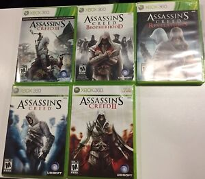 Assassin's Creed Xbox360 5-game bundle OBO