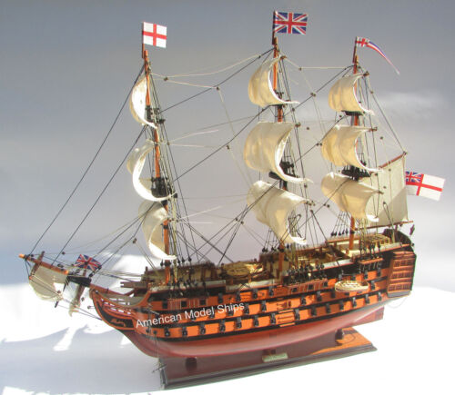 "HMS Victory Painted Museum Quality Tall Ship Model 30"" British Royal Navy 1774"