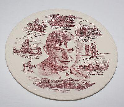 Will Rogers Vernon Kilns Metlox Collector Plate USA Embossed Edge