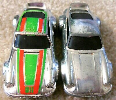 Vintage 1970s Mattel Redline Hot Wheels - Lot of 2x P-911 - Porsche Carrera