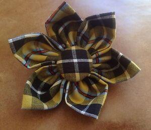Cornish Tartan Fabric Flower Brooch (Made in Cornwall)