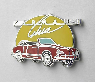 VW VOLKSWAGEN KARMANN GHIA CABRIOLET LAPEL PIN BADGE 1 INCH