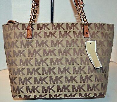 Michael Kors Jet Set Item Tote Beige/Luggage Bag Handbag Bolsa Purse MRSP$248 comprar usado  Enviando para Brazil