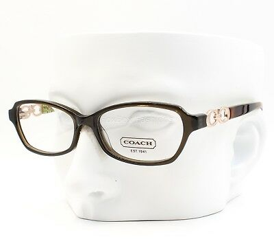 COACH HC 6017 5036 Eyeglasses Frame Glasses Dark Olive ~ Tortoise ~ 52mm