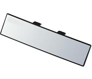 car interior mirror rear view large convex wide angle clip on panarama towing ebay. Black Bedroom Furniture Sets. Home Design Ideas