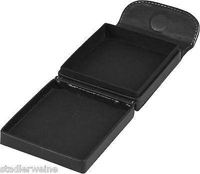Zigarilloetui / Ganze Packung / Außenmaße 103 x 88 x 30 mm / Lederoptik schwarz
