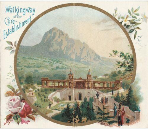 SUPER - Color Litho Travel Brochure Pamphlet- 1880 Natural Spring Bilina Bohemia