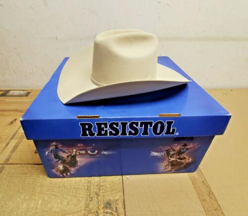 "Resistol El Simbolo Buckskin Cowboy Hat Size 7 Long Oval 4"" Brim 6X"