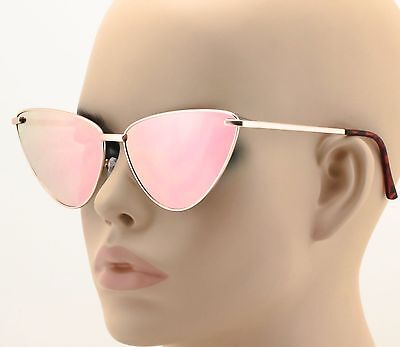 NEW Designer Fashion Cat Eye Metal Frame Women Sunglasses Mirrored Color (Cat Eye Color)