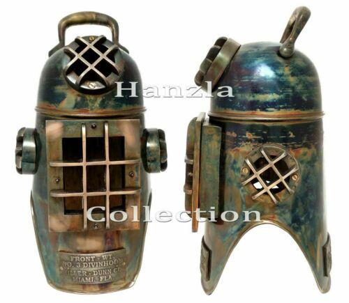 Patina Antique Diving Hood Style Helmet Marine Brass Scuba Divers US Navy GIFT
