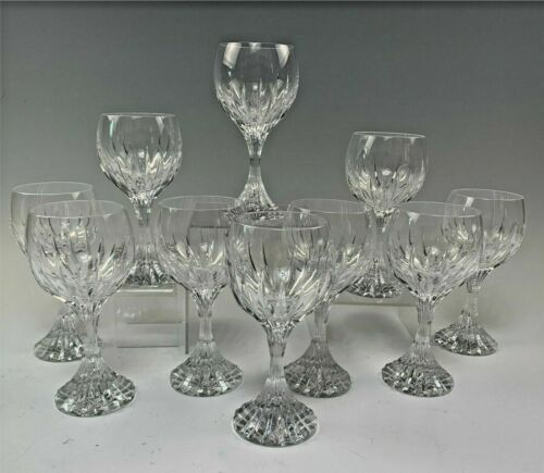 "Baccarat French Crystal Massena Pattern 7 1/2"" Goblet(s) / Glasse(s)  #1 Largest"