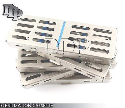 10 Dental Autoclave Sterilization Cassette Rack Box Tray For 5 Instrument