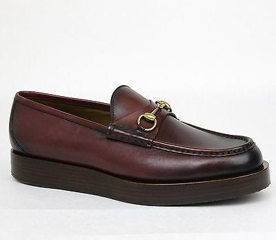 1c264df4836 New Gucci Men s Shaded Leather Platform Horsebit Loafer 13.5 US 14.5 353043  6123