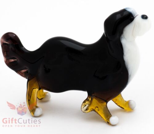 Art Blown Glass Figurine of the Bernese Mountain Dog