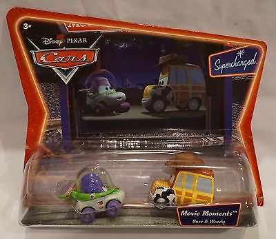 Disney Pixar Cars Supercharged Series Movie Moments Buzz & Woody Die Cast NEW