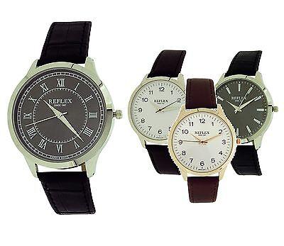 Reflex Herren Herren Jungen Analog Pu Armbanduhr Geschenk für Ihn