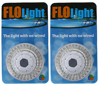 2) LED Swimming Above Inground Pool Flo Lights Wireless Universal Return - Pair