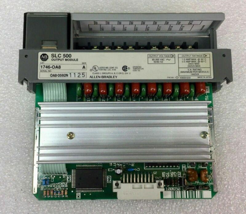 Allen Bradley Slc 500 1746-oa8 Ser A Output Module