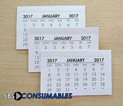 2017 Calendar Tabs