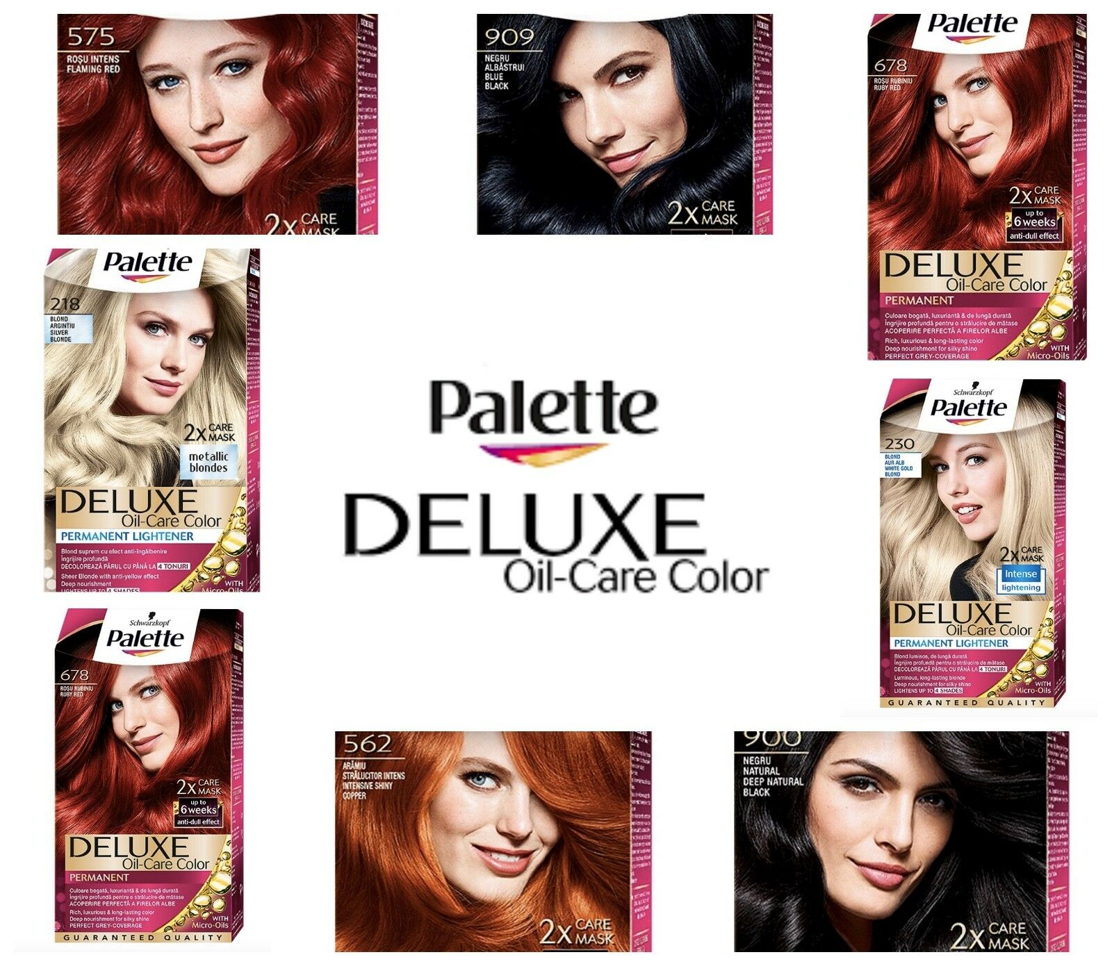 Schwarzkopf Palette Deluxe Hair Color Dye 23 Different Shades Choose 4 68 Coffee Brown For Sale Online Ebay