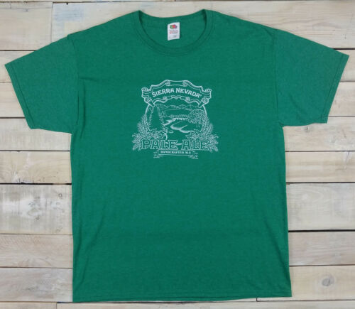 New SIERRA NEVADA Brewing Company Pale Ale Handcrafted Beer Green T-Shirt Size L