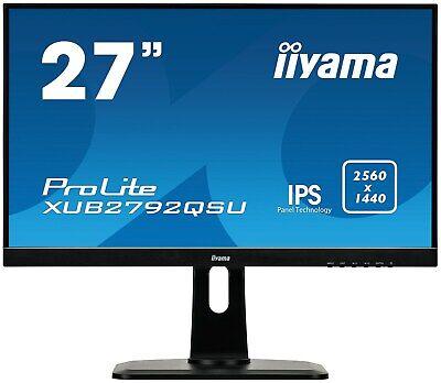 iiyama ProLite XUB2792QSU-B1 27 inch LED IPS Monitor - 2560 x 1440, 5ms, HDMI