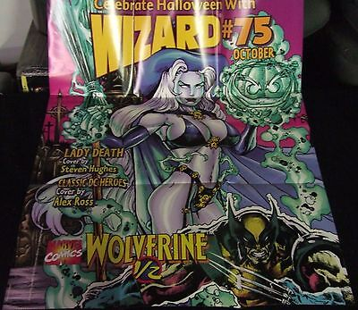 WIZARD MAG #75 LADY DEATH & WOLVERINE 1997 PROMO POSTER 25