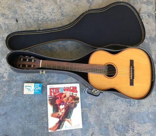 c. 1970 Savona Classical Guitar w/ Case, Hamilton Capo & Book. Made in Brazil.