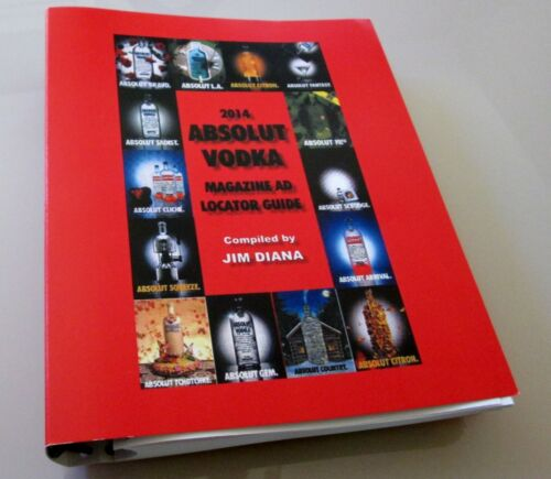 2014 ABSOLUT VODKA MAGAZINE AD LOCATOR GUIDE - 27,000 Entries & 13,000 Locations