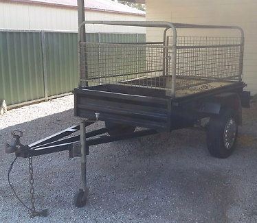7x4 steel  box trailer