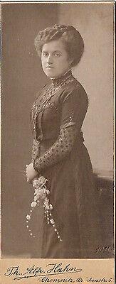 CDV photo Feine Dame - Chemnitz 1911