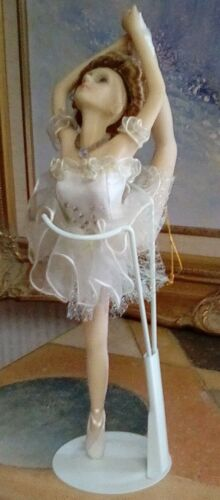 """BALLERINA DOLL, 10"""", CREAM OUTFIT, LIGHT BROWN HAIR, SHOES, ARM BANDS, STOCKINGS"""