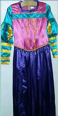 Womens Satin Colorful Medievel Renaissance Princess Theater Costume Dress Rachel