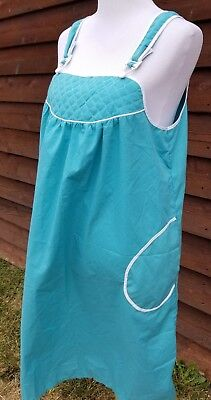 Jodie Arden L Vintage Body Apron/dress L Teal and white pipping