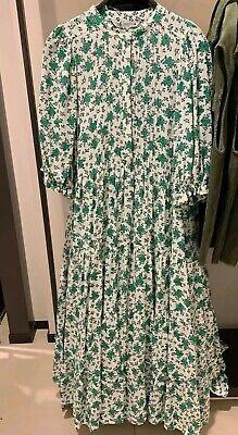 Zara SS20 Floral Print Dress Midi Long Green White 4786/070 XS S M L XL XXL