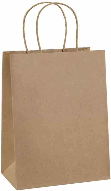 Paper Bags 8x4.25x10.5 100Pcs BagDream Gift Bags, Party Bags, Shopping Bags, Kra