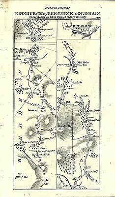 Antique map, Perth to Old Rain (2) / Brechine to Inverness (1)