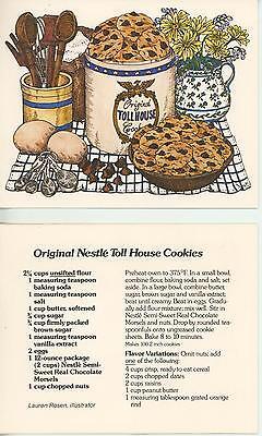 CHOCOLATE COOKIES RECIPE CARD & 1 AMISH DAIRY MAID COWS SPRING GARDEN BARN CARD (Chocolate Fountain Recipe)